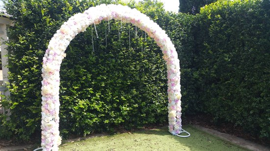 ROSE FLORAL ARCH